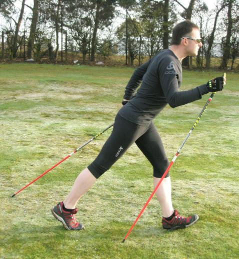 Nordic Ski Walking - technique used by Cross-country Skiers