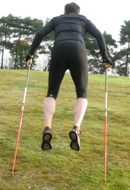 Uphill Power Jump Double Poling